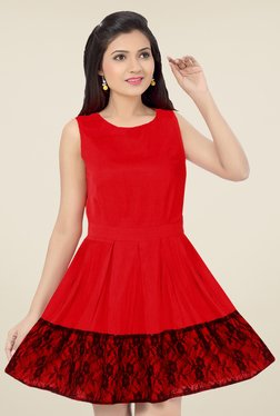 Ishin Red Lace Dress