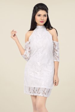 Ishin White Lace Dress