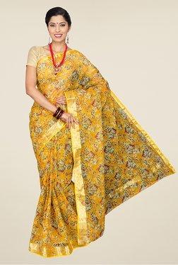 Pavecha's Yellow Bandhej Kota Doria Chiffon Saree