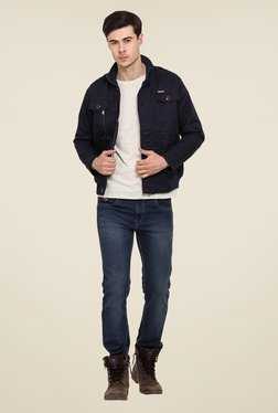 Duke Stardust Navy Solid Jacket - Mp000000000565228