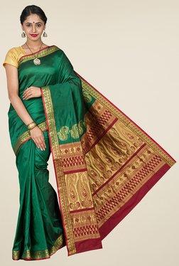 Pavecha's Green Kanjivaram Art Silk Saree