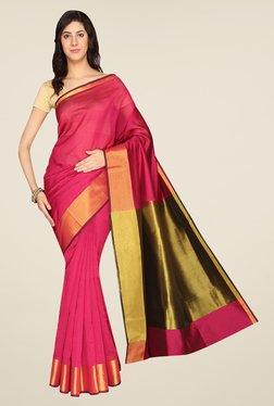 Pavecha's Pink Banarasi Silk Cotton Blend Saree