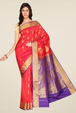 Pavecha's Red Kanjivaram Art Silk Saree