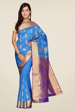 Pavecha's Blue Kanjivaram Art Silk Saree