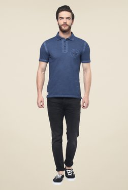 Celio* Navy Solid Polo T Shirt