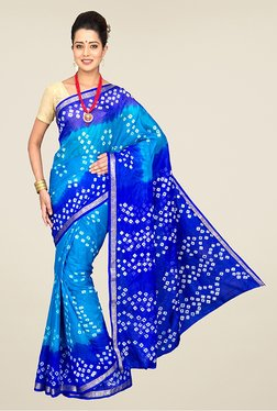 Pavecha's Blue Chiffon Saree