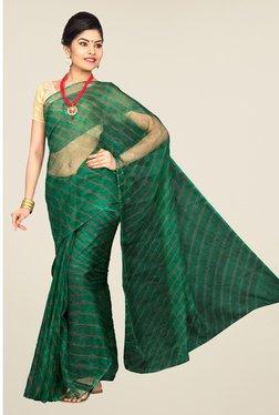 Pavecha's Green Chiffon Saree