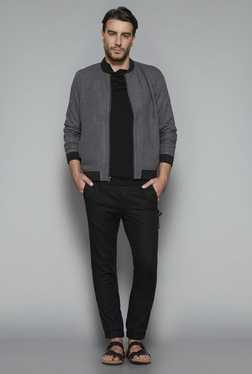 ETA By Westside Grey Slim Fit Textured Jacket