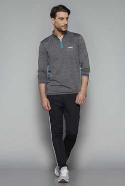 Westsport By Westside Grey Textured Slim Fit T Shirt