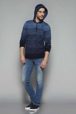 Nuon by Westside Blue Slim Fit Sweater