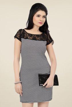 Ishin Black & White Striped Dress