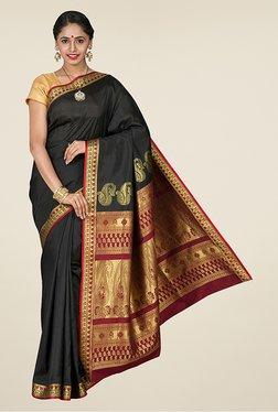 Pavecha's Black Kanjivaram Art Silk Saree