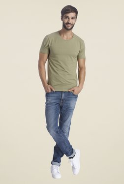 Selected Green Solid T Shirt