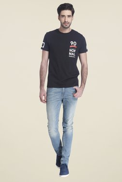 Jack & Jones Black Short Sleeve Printed T-shirt