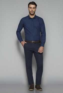 Ascot By Westside Navy Slim Fit Shirt
