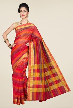 Pavecha's Multicolor Banarasi Cotton Saree