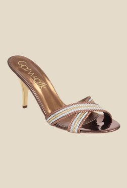 Catwalk Bronze Stiletto Heeled Sandals
