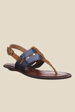 Catwalk Navy & Tan Back Strap Sandals