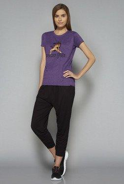Westsport By Westside Purple Printed T Shirt