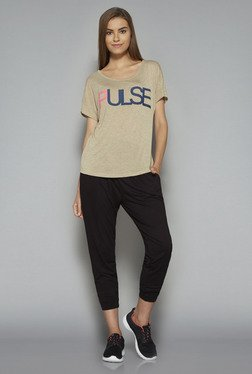 Westsport By Westside Beige Printed T Shirt