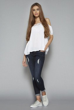 Nuon by Westside White Gypsy Blouse