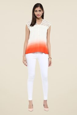 Fusion Beats Off White Lace Top