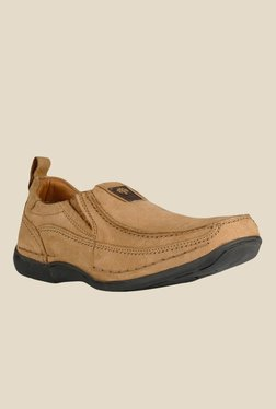 Woodland Camel Casual Slip-Ons