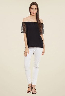 Femella Black Off Shoulder Top