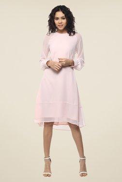 Femella Light Pink Solid Dress