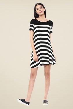 Femella Black & White Striped Dress