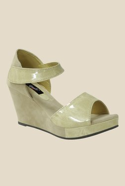 Gisole Selena Beige Ankle Strap Wedges