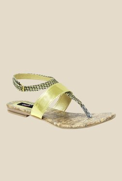 Gisole Ketty Golden T-Strap Sandals
