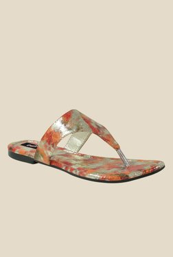 Gisole Houston Orange T-Strap Sandals