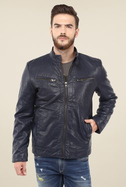 Spykar Navy Solid Jacket
