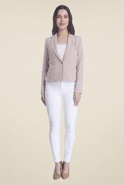 Vero Moda Pink Solid Blazer
