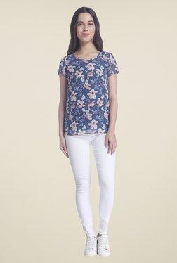 Vero Moda Blue Floral Print Top