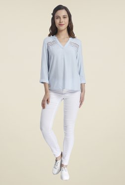 Vero Moda Light Blue Solid Top