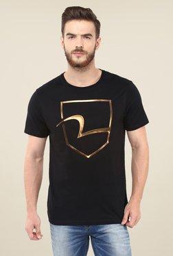 Spykar Black Logo T-shirt