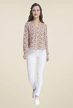 Vero Moda Beige Floral Print Shirt