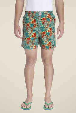 Jack & Jones Teal Printed Boxers
