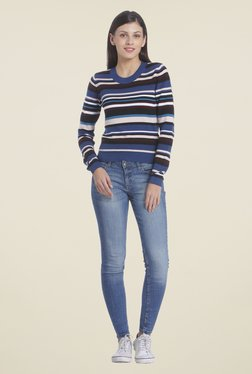 Only Multicolor Striped Top
