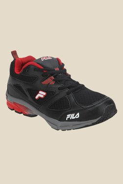 Fila Foot Strike Black & Red Running Shoes