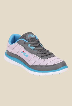 Fila Nozzo Grey & Light Pink Running Shoes