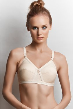 22a323ec800b6 Libertina Beige Kriss Cross Non-wired Bra
