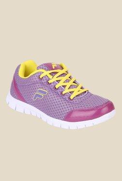 Fila Lara II Purple & Yellow Running Shoes