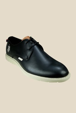 US Polo Assn. Carter Black Derby Shoes