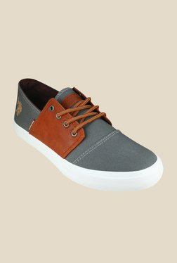 US Polo Assn. Ryan Grey & Brown Sneakers
