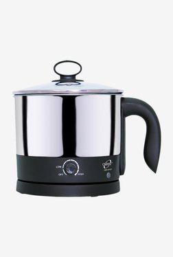 Orpat OEK-8167 1.2 L Electric Kettle (Black & Silver)