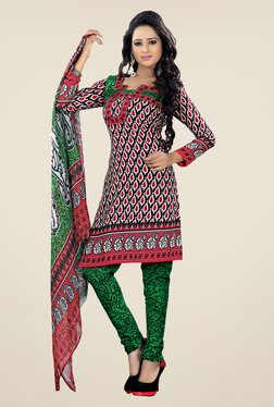 Fabfella Multicolor Printed Dress Material