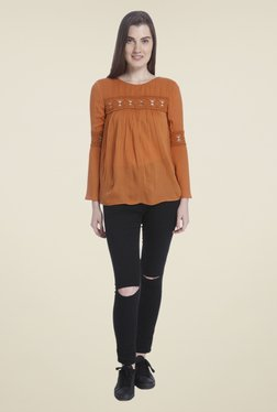 Vero Moda Brown Lace Blouse